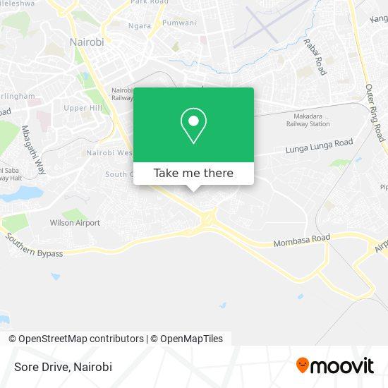 Sore Drive map