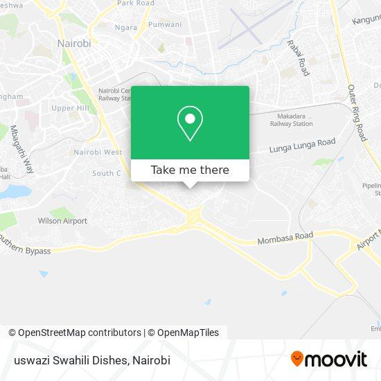 uswazi Swahili Dishes map