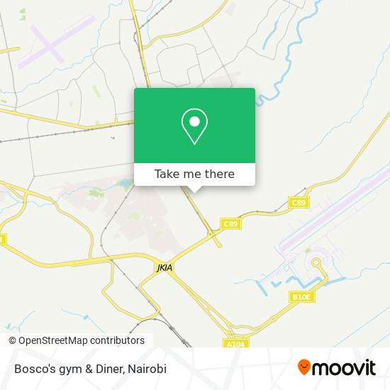 Bosco's gym & Diner map