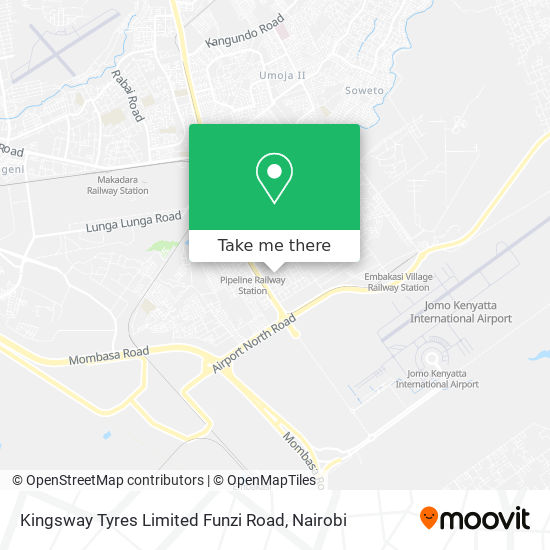 Kingsway Tyres Limited Funzi Road map