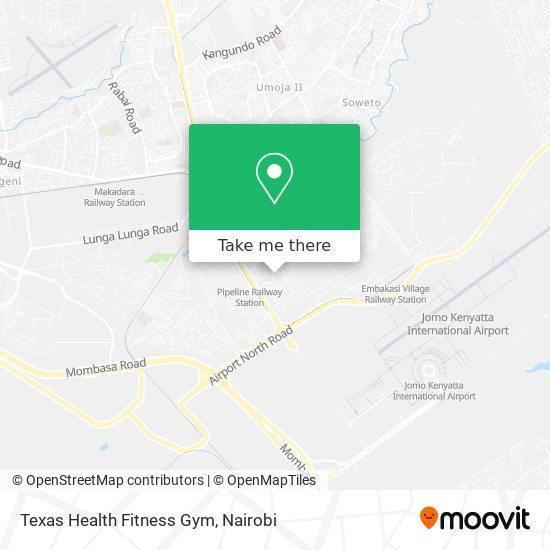 Texas Health Fitness Gym map
