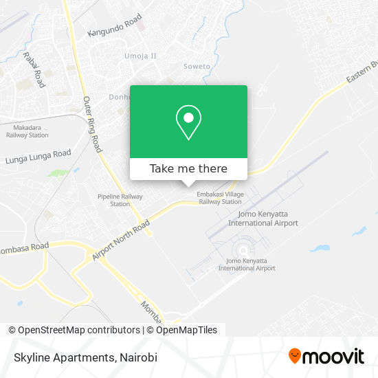 Skyline Apartments map