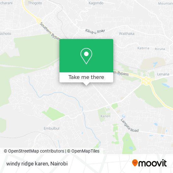 windy ridge karen map