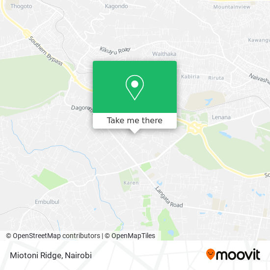 Miotoni Ridge map