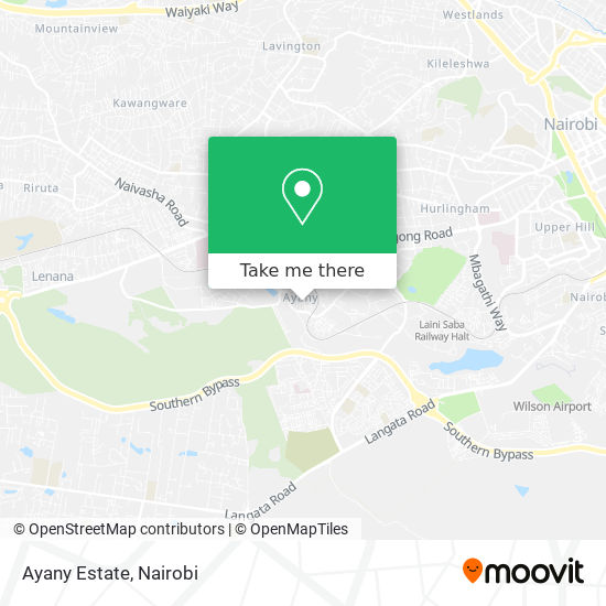 Ayany Estate map