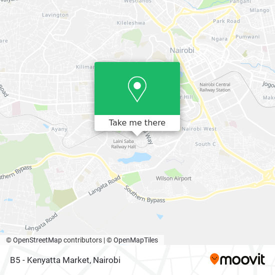 B5 - Kenyatta Market map