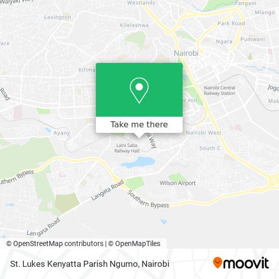 St. Lukes Kenyatta Parish Ngumo map