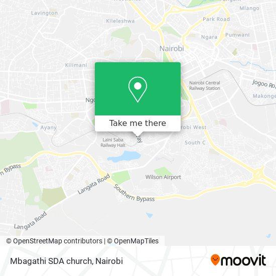 Mbagathi SDA church map