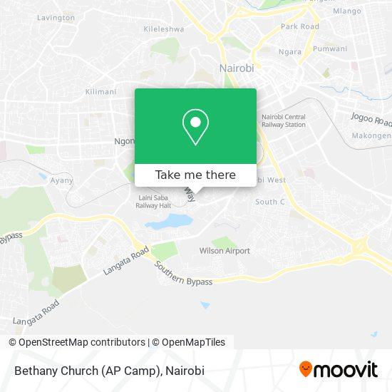 Bethany Church (AP Camp) map