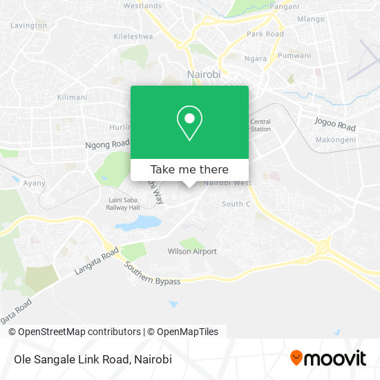 Ole Sangale Link Road map