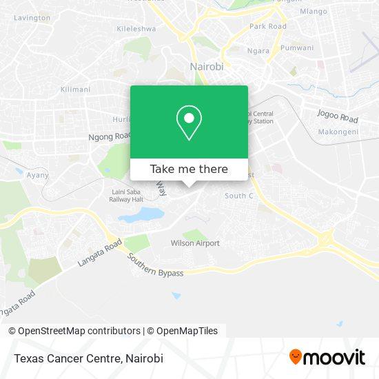 Texas Cancer Centre map