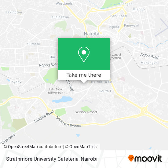 Strathmore University Cafeteria map