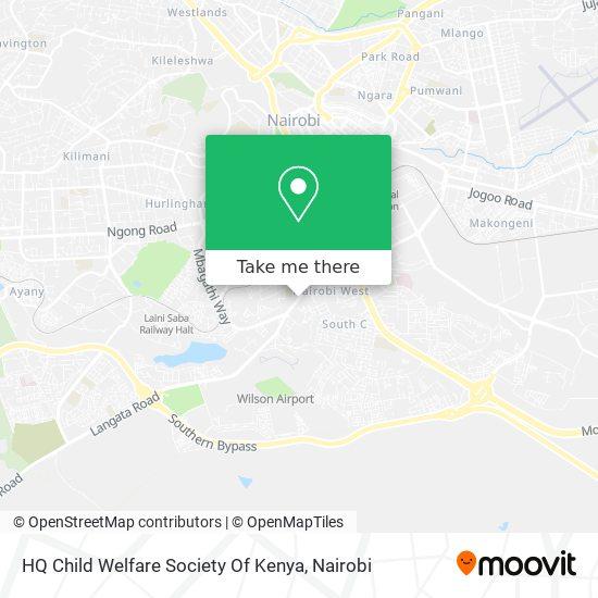 HQ Child Welfare Society Of Kenya map