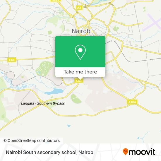 Nairobi South secondary school map