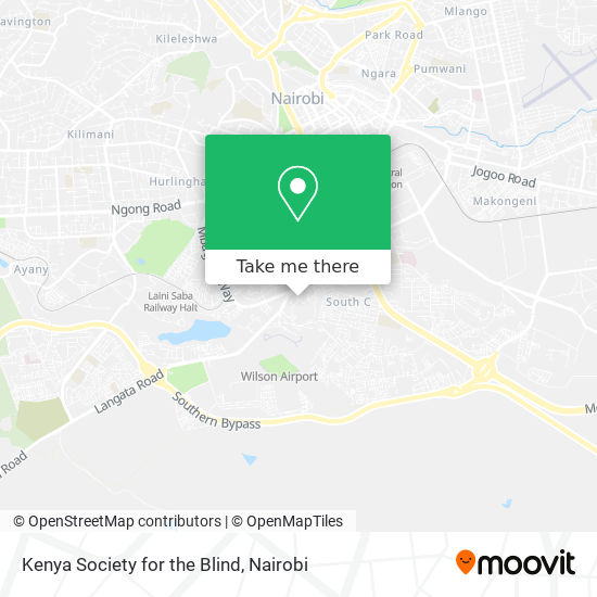 Kenya Society for the Blind map