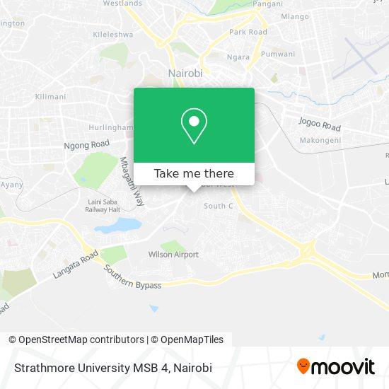 Strathmore University MSB 4 map