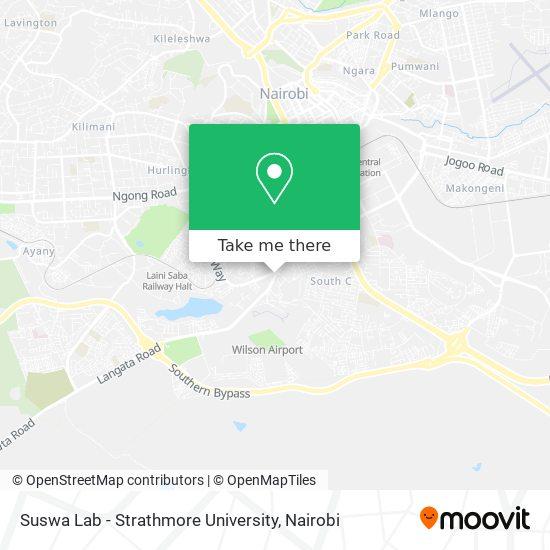 Suswa Lab - Strathmore University map