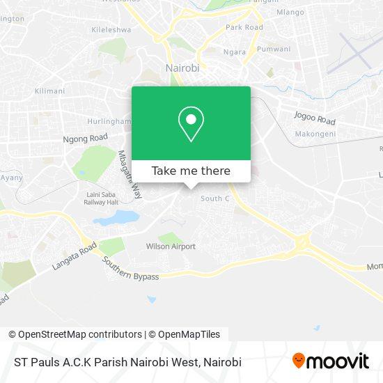 ST Pauls A.C.K Parish Nairobi West map