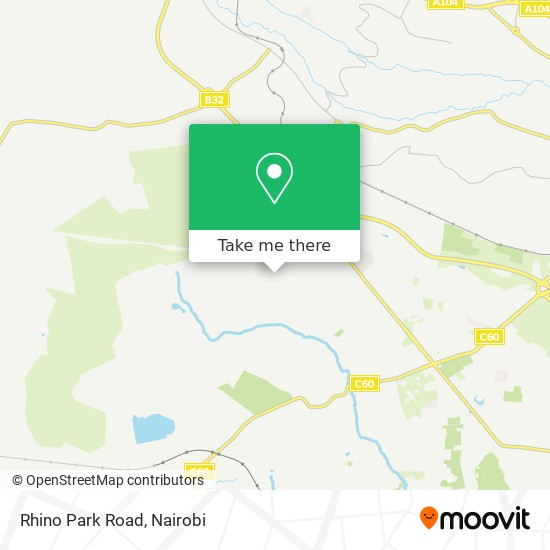 Rhino Park Road map