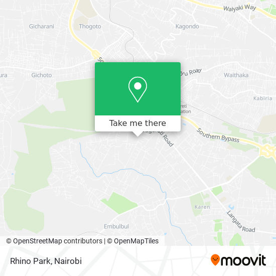 Rhino Park map