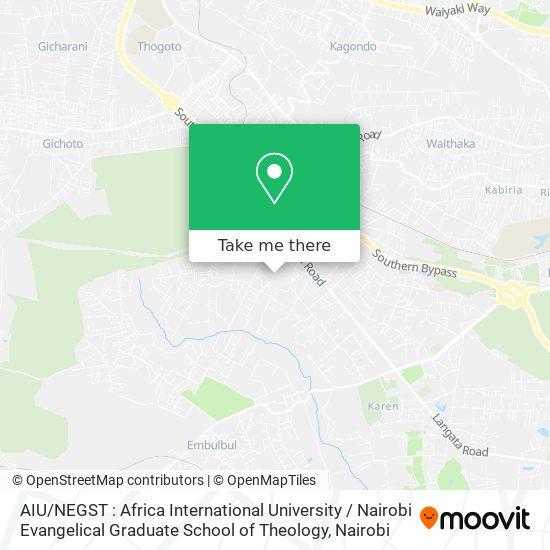 AIU / NEGST : Africa International University / Nairobi Evangelical Graduate School of Theology map