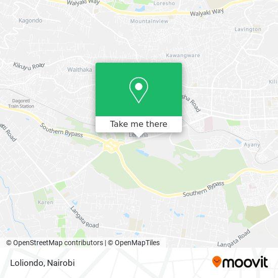 Loliondo map