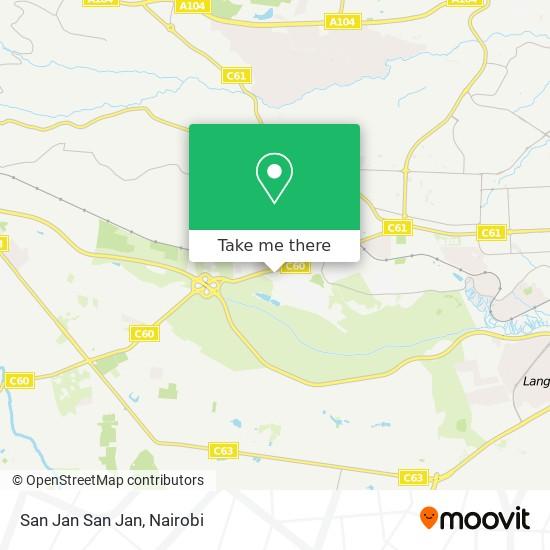 San Jan San Jan map
