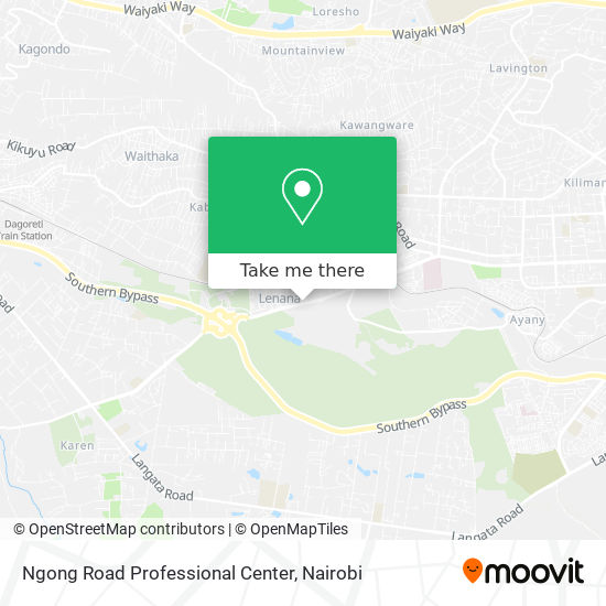 Ngong Road Professional Center map