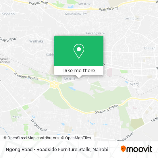 Ngong Road - Roadside Furniture Stalls map