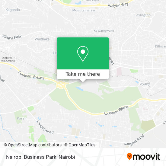 Nairobi Business Park map