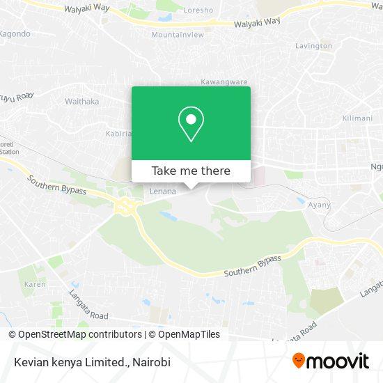 Kevian kenya Limited. map
