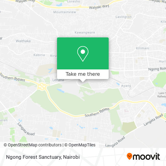Ngong Forest Sanctuary map