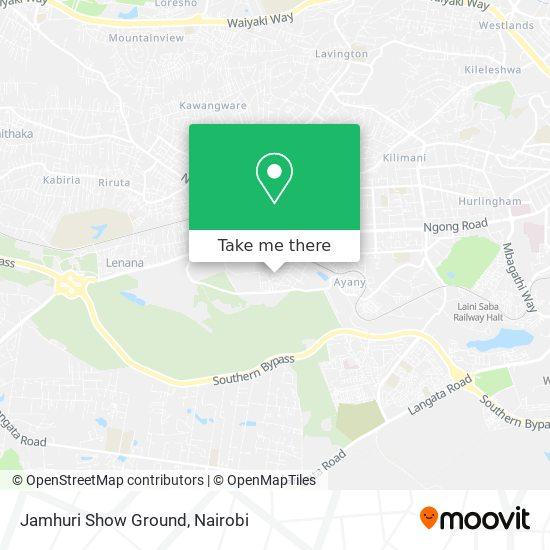 Jamhuri Show Ground map