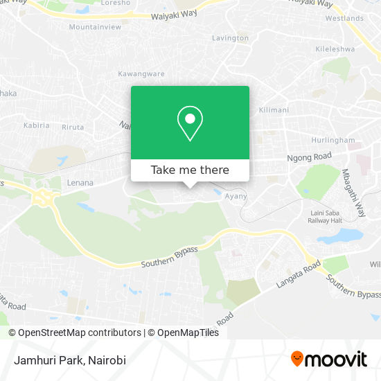 Jamhuri Park map