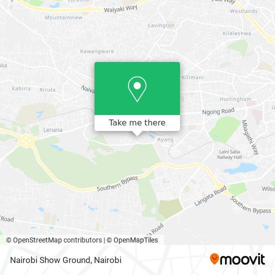Nairobi Show Ground map