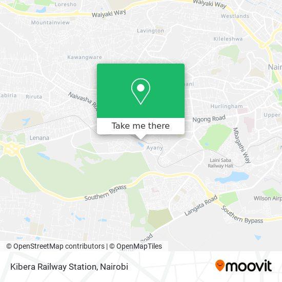 Kibera Railway Station map