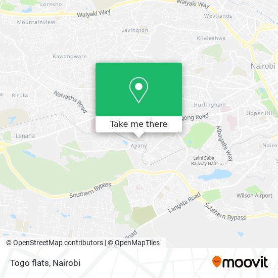 Togo flats map