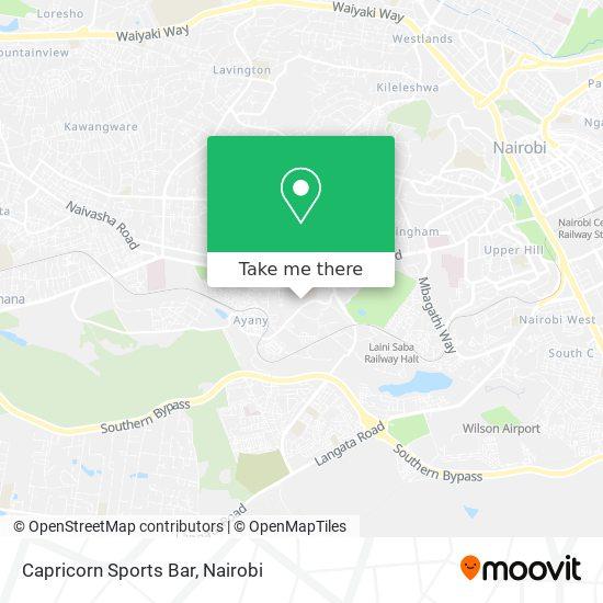 Capricorn Sports Bar map