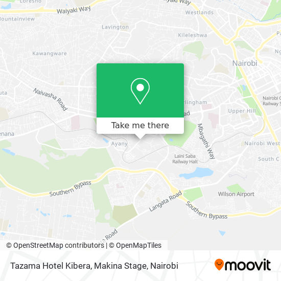 Tazama Hotel Kibera, Makina Stage map