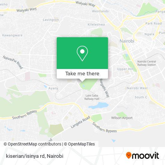 kiserian/isinya rd map