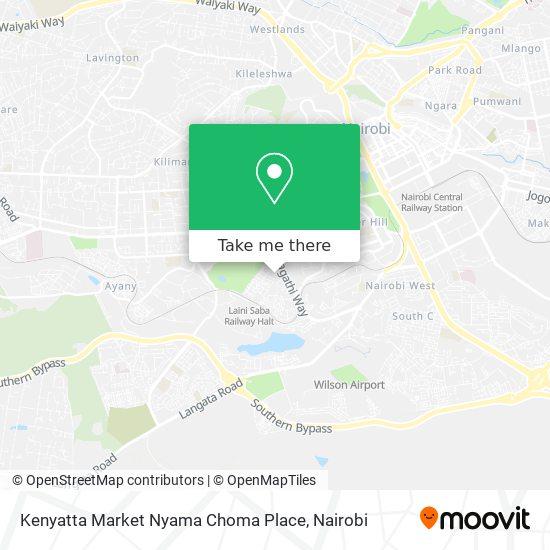 Kenyatta Market Nyama Choma Place map
