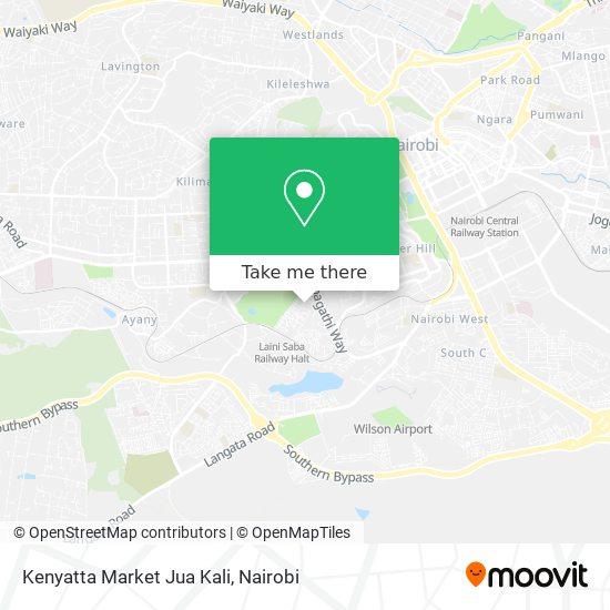 Kenyatta Market Jua Kali map