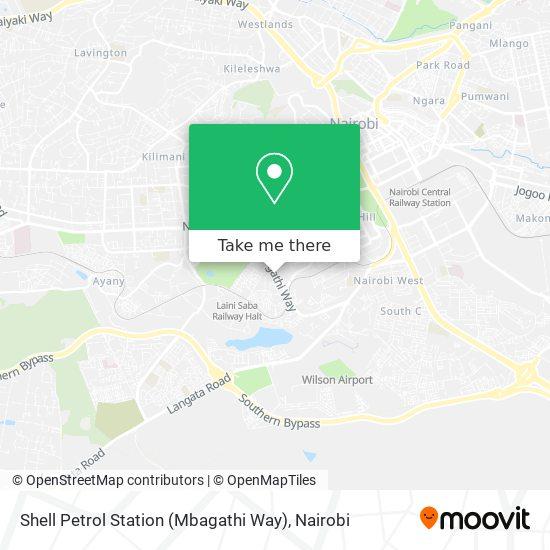 Shell Petrol Station (Mbagathi Way) map