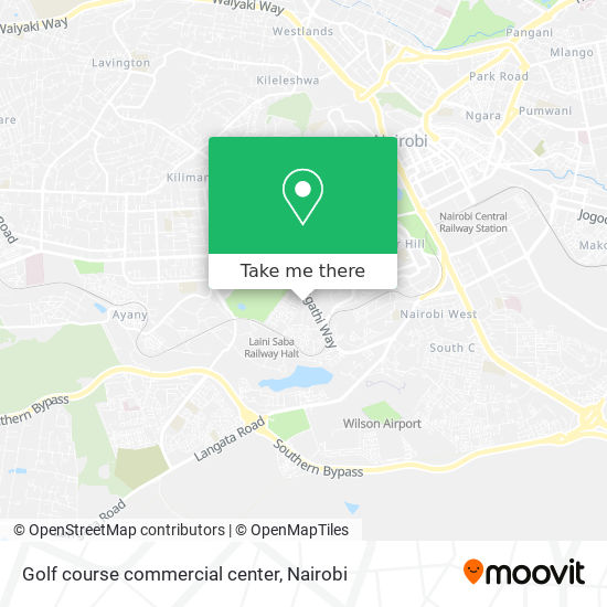 Golf course commercial center map