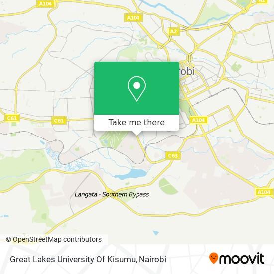 Great Lakes University Of Kisumu map