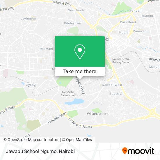 Jawabu School Ngumo map