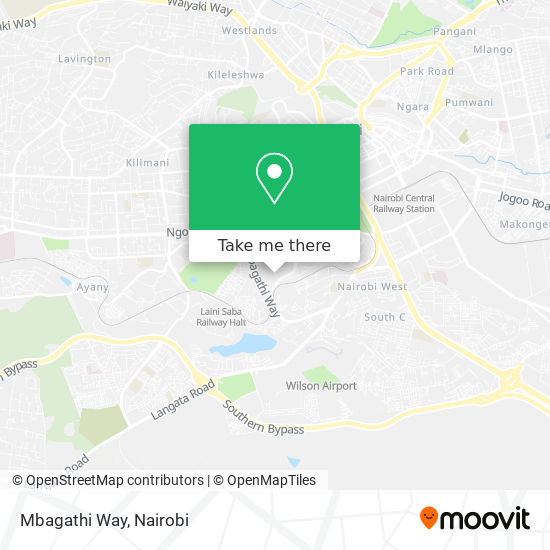Mbagathi Way map