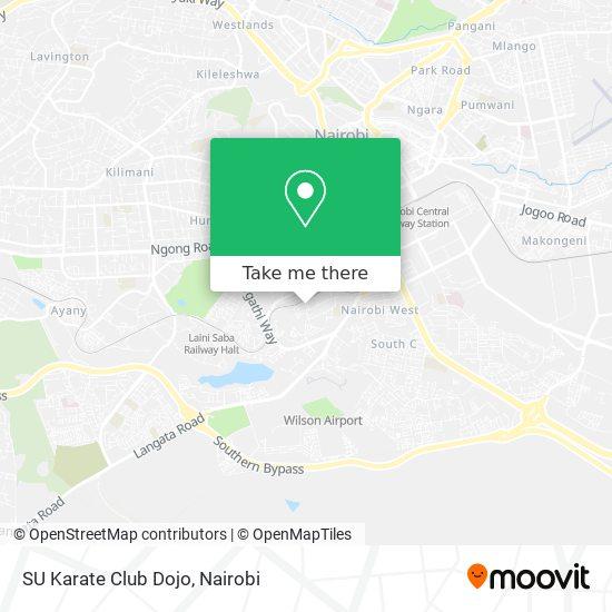 SU Karate Club Dojo map