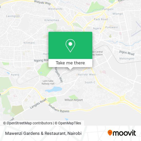 Mawenzi Gardens & Restaurant map