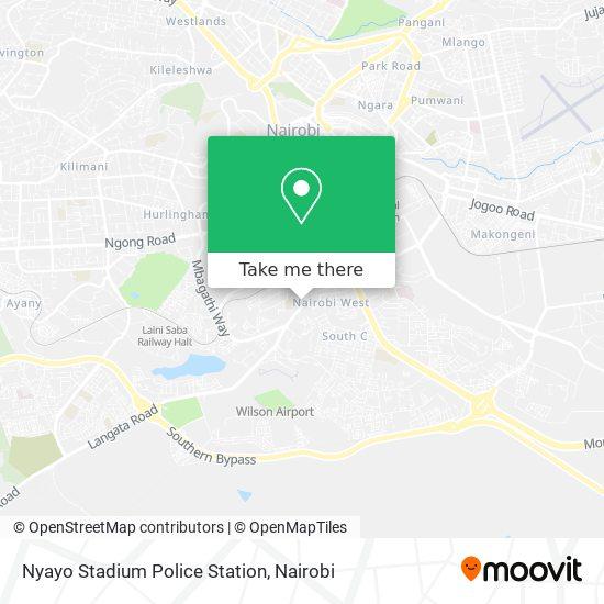 Nyayo Stadium Police Station map